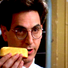 Egon with the twinkie