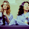 grey's anatomy: mer & cris knitting