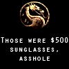 Julia (The one with many names): Mortal Kombat - Johnny Cage: Sunglasses