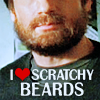 Characteristically less than exuberant...: [XF] SCRATCHY BEARD!!