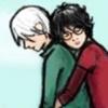 Scarlet: h/d - broom hugging sad