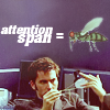 attention span = gnat, distracted