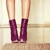 girl; obsessed: * purple boots