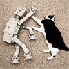 I would fite but Iz too sleepies, imperial walker vs. kitty
