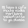 Cafe/mocha/vodka