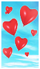 Dimity Blue: Hearts sky