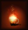 light, mug, tea