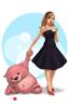 Дівчинка і медведик