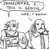 shakespeare is a genius