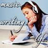 music writing life stock