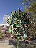 art, modern art, traffic light tree