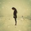 Girl alone in black