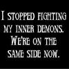 same side as inner demons