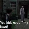 kids off lawn