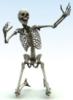 Skeleton on knees