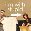juchalina: j2 i'm with stupid