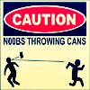 noobs throwing cans
