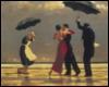 танцующие под зонтами