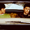 spn / sam and dean (in the car)