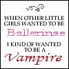 wanted to be vamp