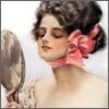 дама с розовым бантом