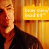 brow raise head tilt