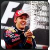 Vettel champagne