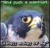 [Merchant of Venice quote on frowny bird]