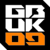 GBUK09 stacked badge orange