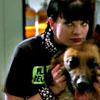 Abby w/dog