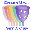 Cheer up cup icon