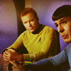 I think the show was still running... here.: Kirk&Spock - Contempating You