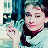 cute audrey smoking