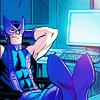 Hawkeye working