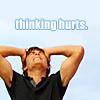 Trini: [Movies] Troy Bolton thinking hurts