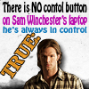 Paige: Sam Winchester True Fact: Control Button