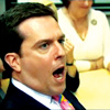 Andy Bernard: I can't get no satisfaction!