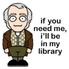 Mr. Bennet, library