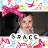 oh what a wonderful world: Grace -- pink bow (12 months)