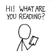 Spackle: xkcd: whatcha reading?