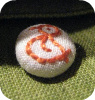 hand embroidered button