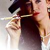 Landice-Leigh Hepburn-Bankhead: film: daphne [cigarette]