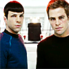 can't find my drink or pants: kirk/spock by lindsey_grissom