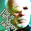 BSG - Tigh's happy face