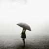 alone in the rain.