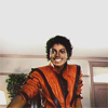 pink sunglasses: music → mj ['cause this is thriller]