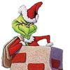 Holiday - Grinch chimney