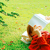 """MJ"": Stock: Reading in the grass"