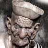 одноглазый, моряк, Злой, старикашка