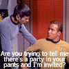 A party in old school spock's pants
